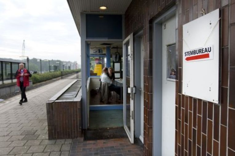 Het stemlokaal op het station van Nijverdal. ANP Beeld
