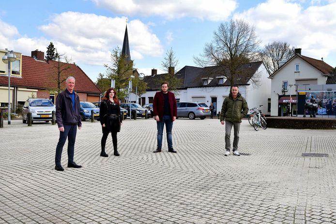 Vlnr Mark van Diemen, Shannon Venmans, Wessel Kort en Alex Wagemakers gaan de Rucphense PvdA nieuw leven in blazen.