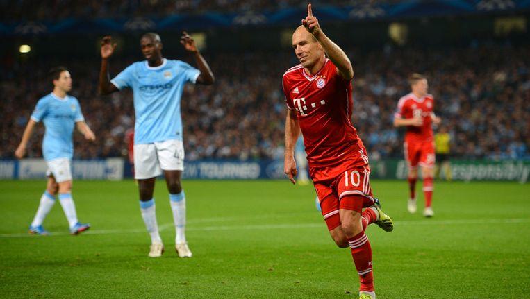 Arjen Robben tekende voor de derde Duitse treffer. Beeld getty