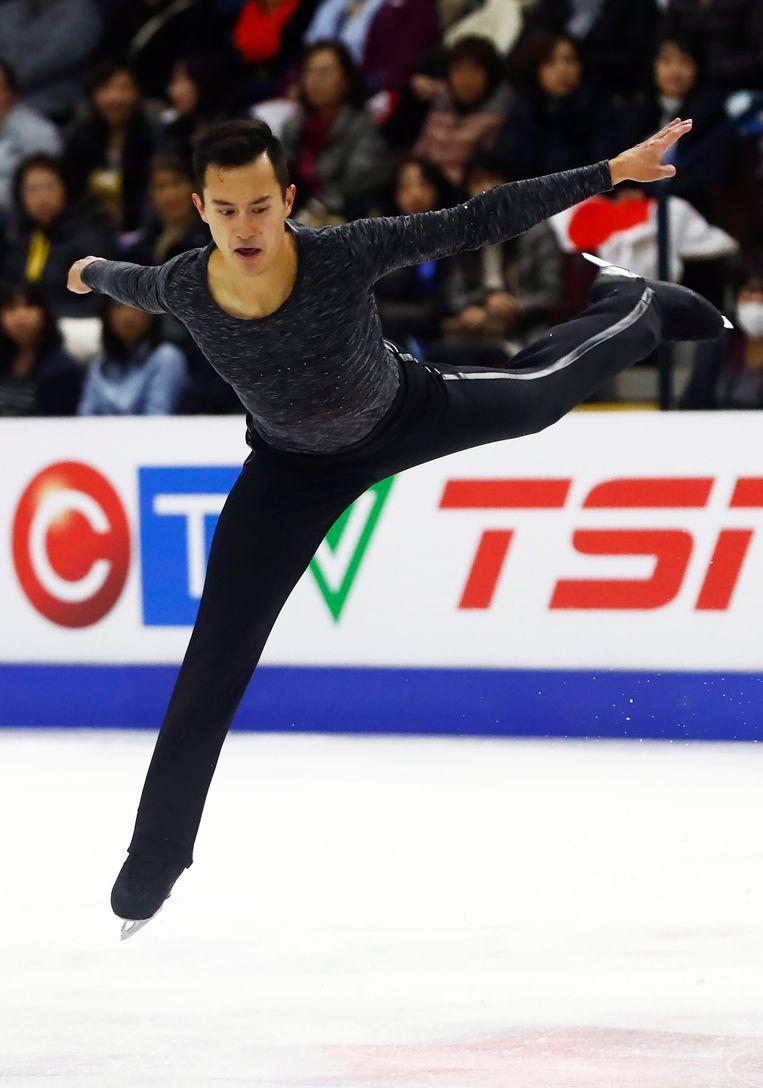 Voor de 25-jarige Chan was het al zesde eindzege op de prestigieuze Skate Canada. Beeld AP
