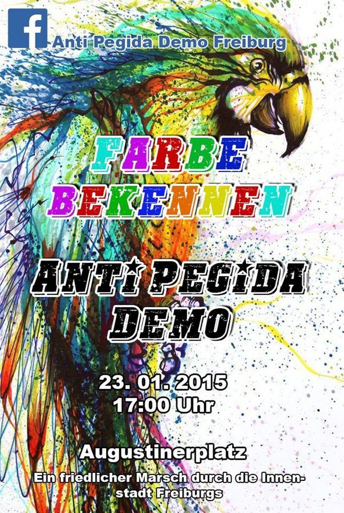 Facebook/Anti Pegida Demo, Freiburg