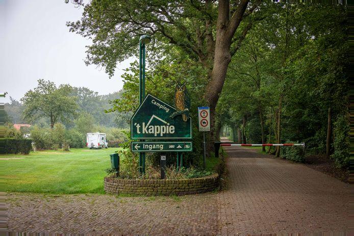 De entree van camping 't Kappie in Baars.