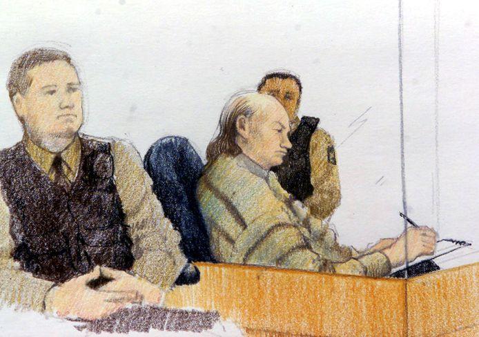 Pickton tijdens zijn proces in 2006.
