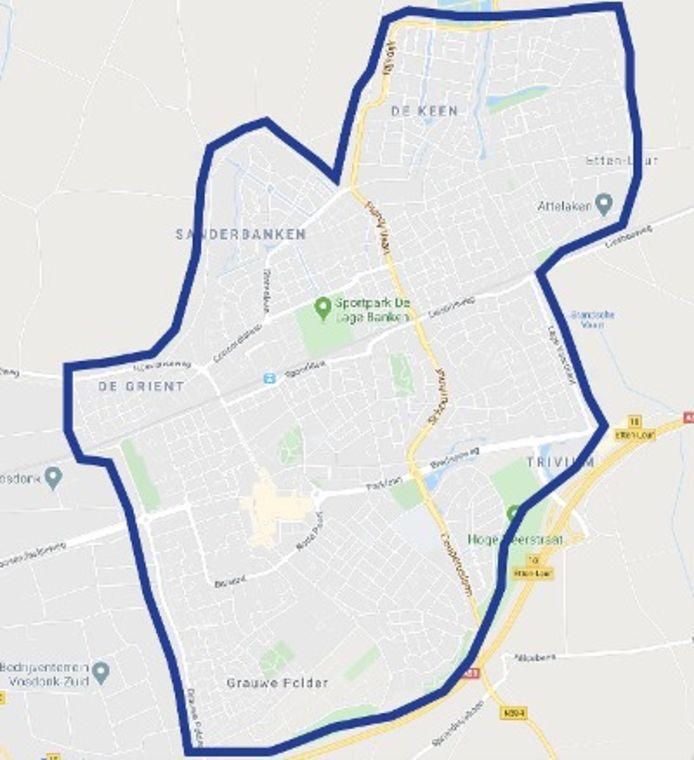 De politie wil graag camerabeelden van dit deel van Etten-Leur