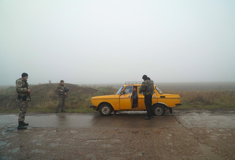 Oekraïense grenscontrole bij Berdyansk.