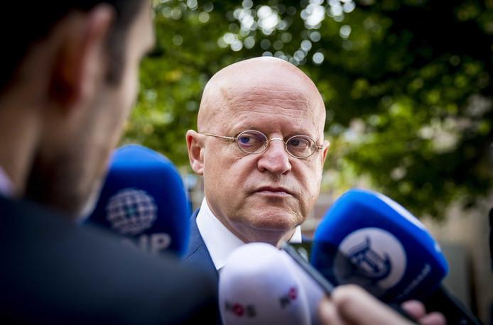 Minister Ferdinand Grapperhaus (Justitie) op het Binnenhof.