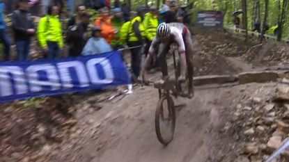 Mathieu van der Poel wordt tweede in Albstadt en heeft olympisch MTB-ticket nu al beet