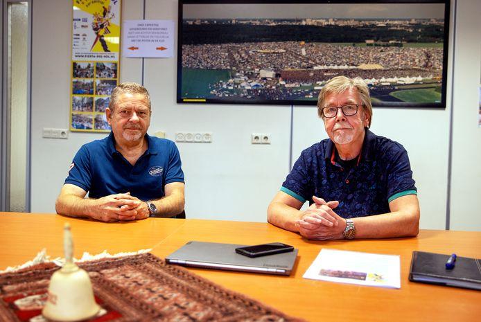 Joep de Greef (links) en Lo Boelhouwers tekenden jarenlang voor Fiesta del Sol in Eindhoven