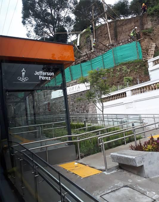 De 'parada' Jefferson Perez in Quito.