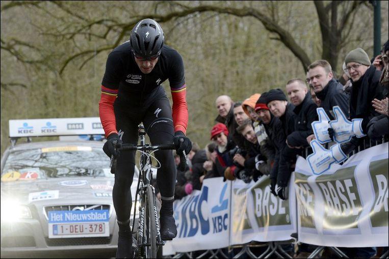 Tom Boonen gaf op na een valpartij. Beeld PHOTO_NEWS