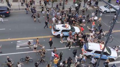 Burgemeester New York belooft onderzoek naar agenten die op betogers inrijden