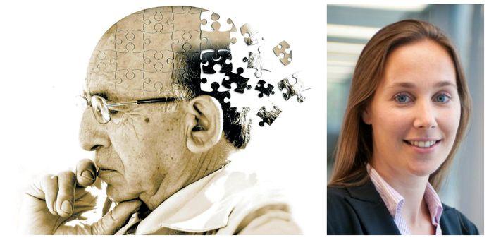 """Professor Rosa Rademakers (rechts): """"Naarmate we ouder worden, sterven onze hersencellen af en gaat ons geheugen trager werken, wat daarom niet betekent dat je dement bent of zult worden."""""""