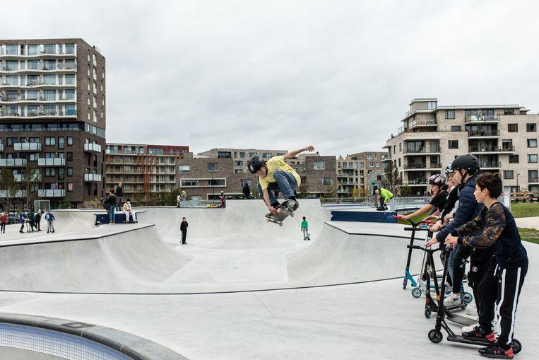 Zeeburg Skate Park op Zeeburgereiland. Beeld Nosh Neneh