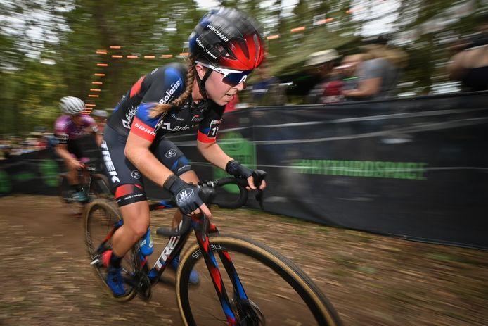 Shirin Van Anrooij, hier zondag in actie in Waterloo, viel in Fayetteville net buiten de top tien.