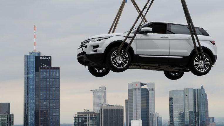 De Range Rover Evoque bij de presentatie van het nieuwe model in 2011 op de autobeurs van Frankfurt. Beeld epa