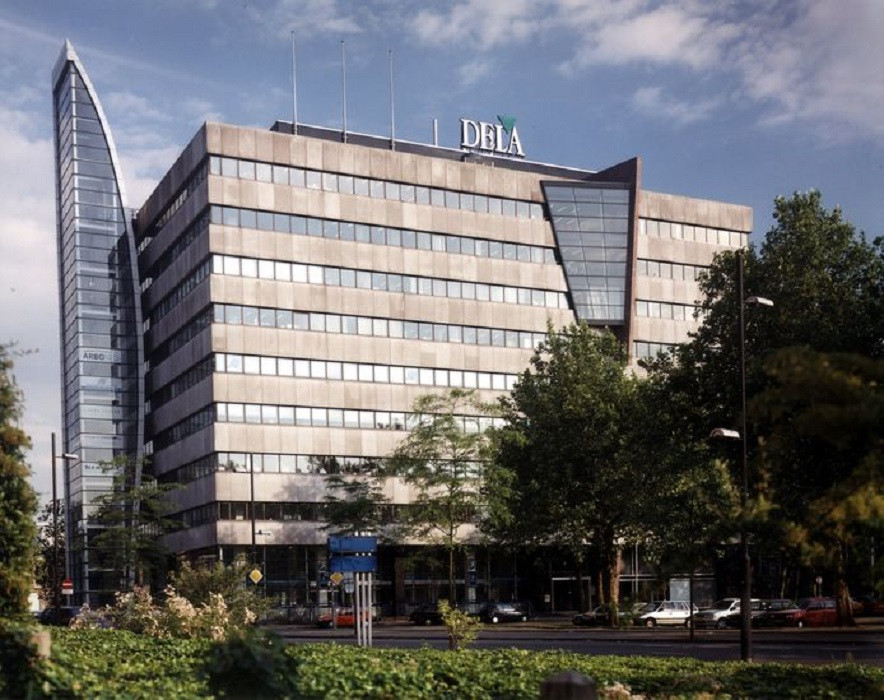 Het Dela-hoofdkantoor in Eindhoven.