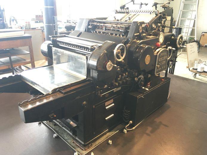 Een antieke drukpers