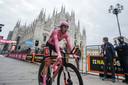 Hindley begon de slottijdrit nog in het roze.