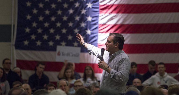 Ted Cruz op campagne in New Hampshire. Beeld photo_news