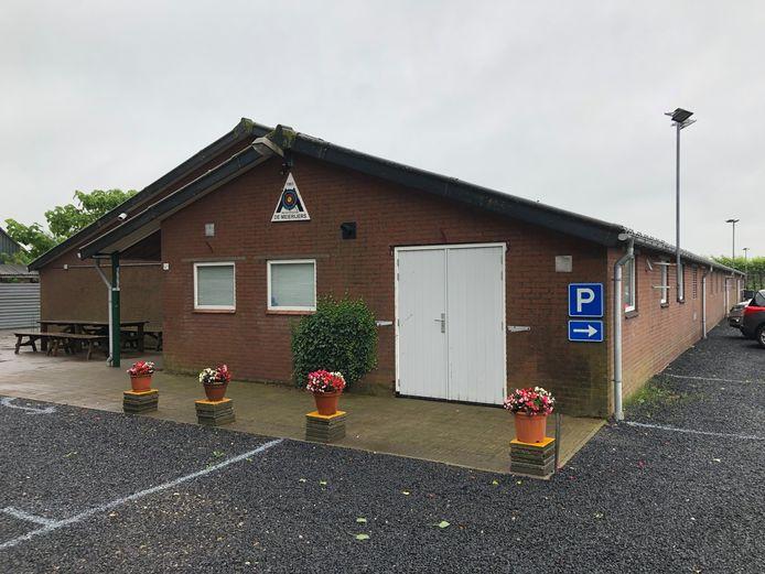 Het clubgebouw van Handboogvereniging De Meijerijers aan de Hoolstraat in Berkel-Enschot.
