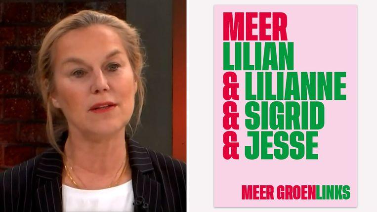 De poster van GroenLinks (rechts). Links D66-leider Sigrid Kaag, die eerder dit jaar niet gediend was van de campagneposter. Beeld Videostill