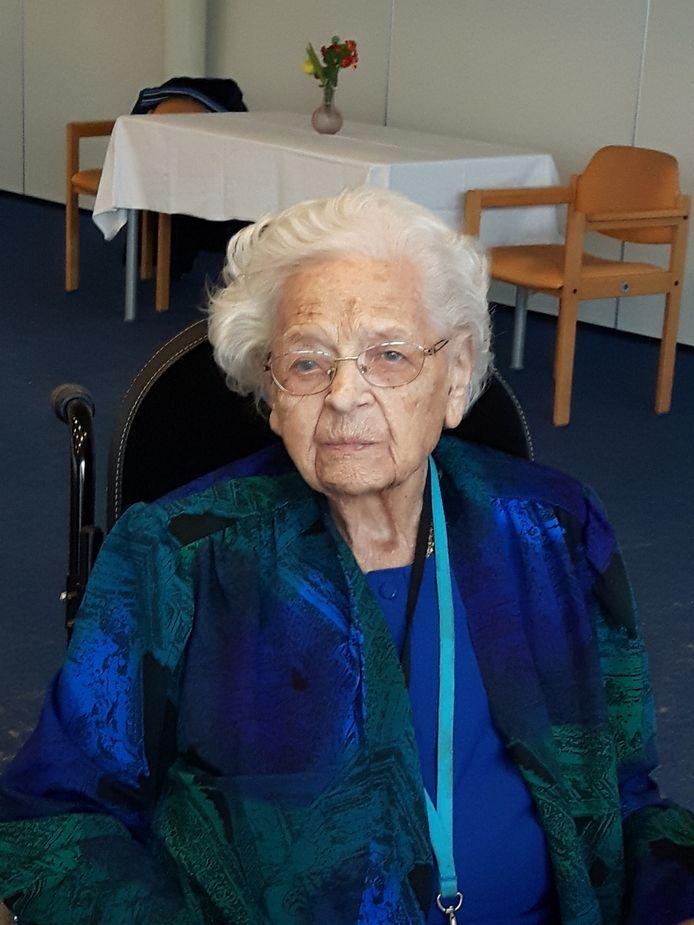 Cornelia Boonstra op haar 110-de verjaardag op 6 september.