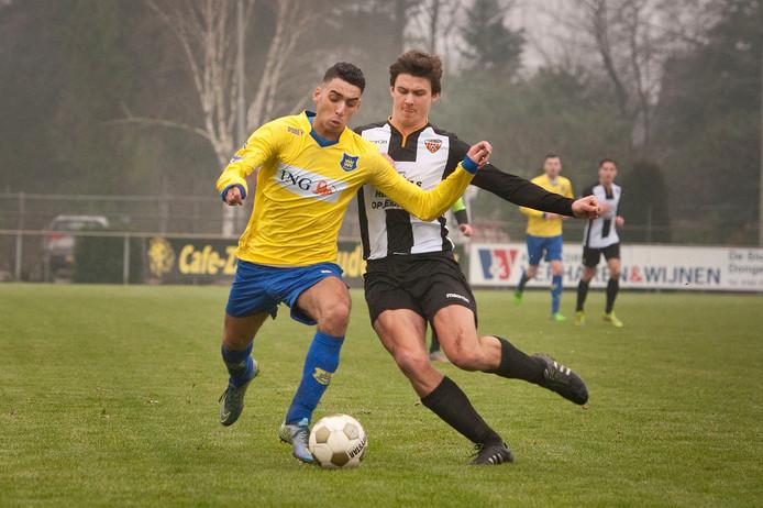 Toon Jochems in actie voor huidige club Dosko tegen Dongen.