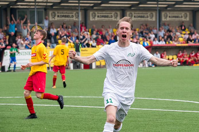 Sjors Storkhorst scoorde vlak na rust namens RKHZV.