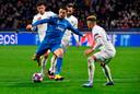 Cristiano Ronaldo aan de bal.