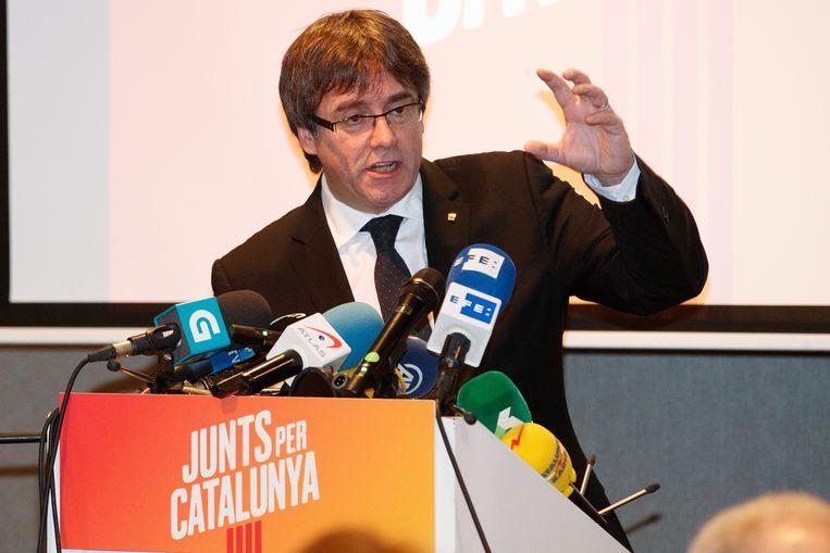 Voormalig Catalaans president Carles Puigdemont. Beeld BELGA