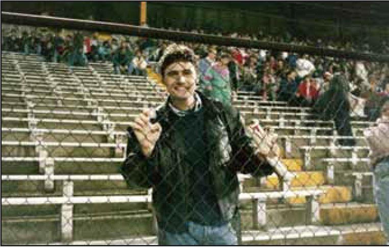 'Mijn broer Patrick was supporter van Standard en ik van Antwerp, en op de dag dat die twee tegen elkaar speelden, zat het er bovenarms op. Wij konden letterlijk huilen van frustratie als die andere ploeg een goal had gemaakt.' Beeld HUMO