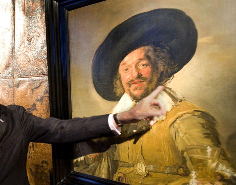 De Vrolijke Drinker uit 1629 van Frans Hals Beeld anp