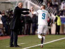Zidane steunt Benzema 'tot de dood'