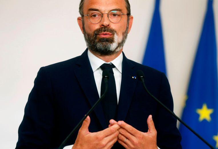 Frans premier Edouard Philippe. Beeld AFP