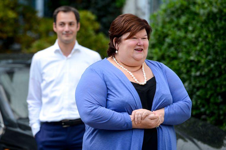 Alexander De Croo en Maggie De Block worden de Open Vld-ministers in de nieuwe regering. Beeld BELGA