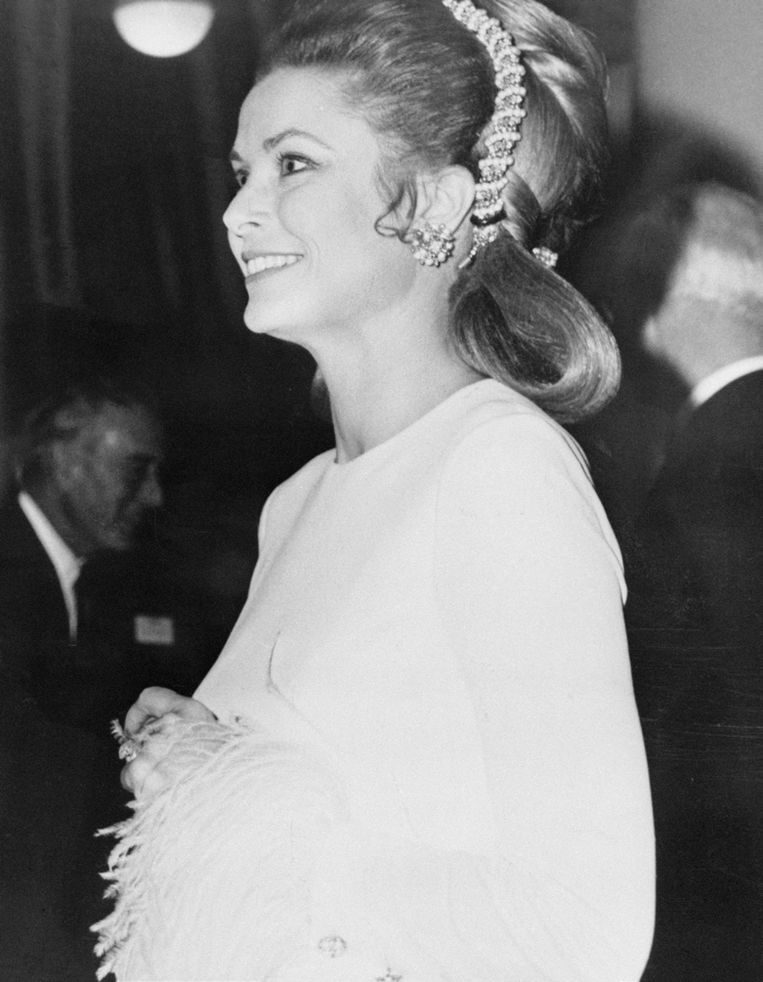 Grace van Monaco in de Royal Festival Hall in Londen, 16 november 1970.  Beeld Bettmann/ Getty Images