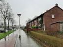 Een deel van de te slopen woningen in 't Ven Eindhoven, aan de Noord-Brabantlaan.