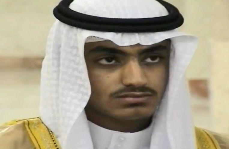 Hamza Bin Laden, zoon van Osama Bin Laden. Beeld EPA