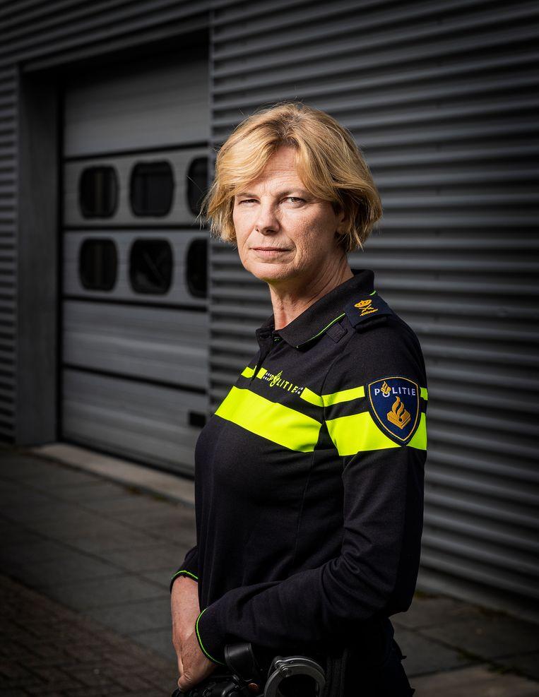 Jannine A. van den Berg, hoofdcommissaris van de Landelijke Politie Eenheid.  Beeld Jiri Büller