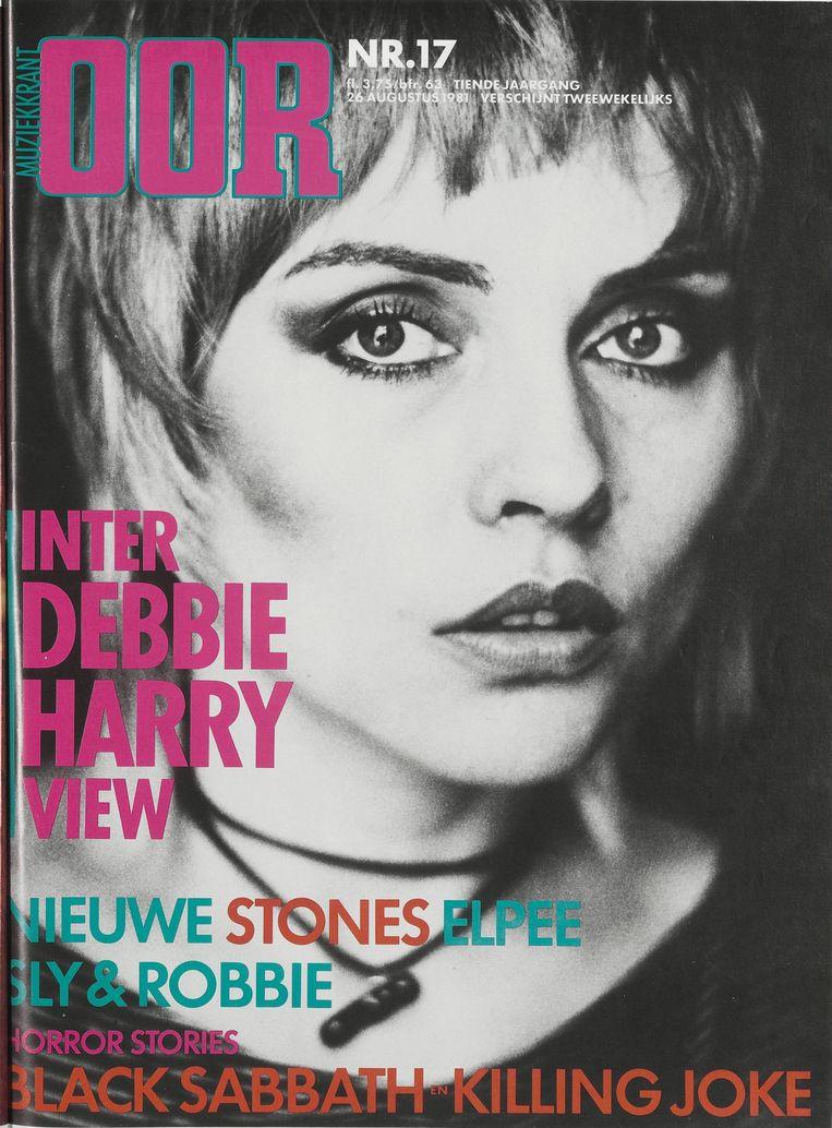 De cover van Oor met Blondie in 1981. Beeld