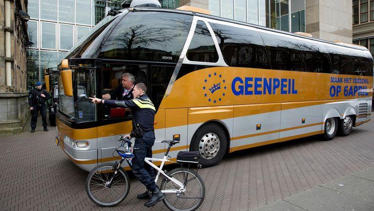 De bus van GeenPeil mag weer van stal gehaald worden. Beeld anp