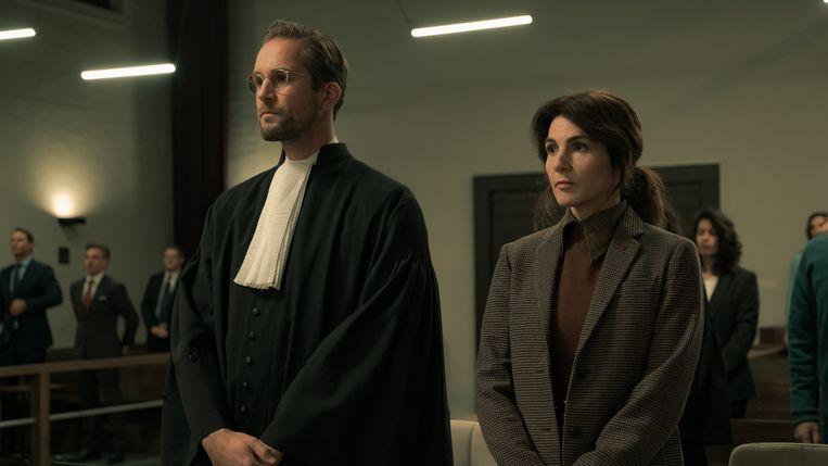 Lykele Muus en Kim van Kooten in De zitting. Beeld