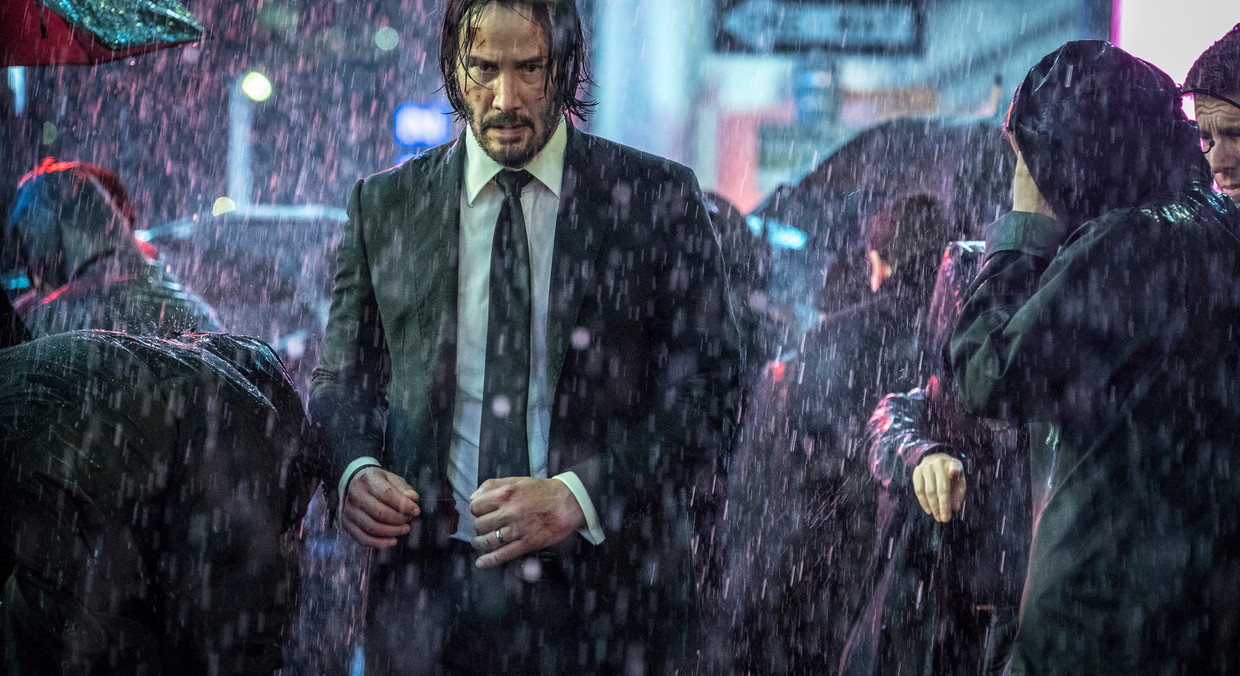 This image released by Lionsgate shows Keanu Reeves in a scene from the film,