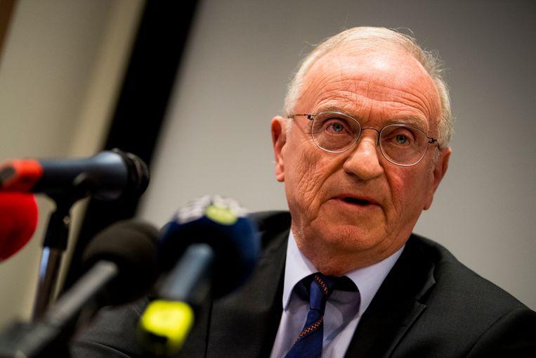 Vorige week gaf de voorzitter van de raad van bestuur van de VRT, Luc Van den Brande, een persconferentie om de tijdelijke CEO voor te stellen.  Beeld BELGA