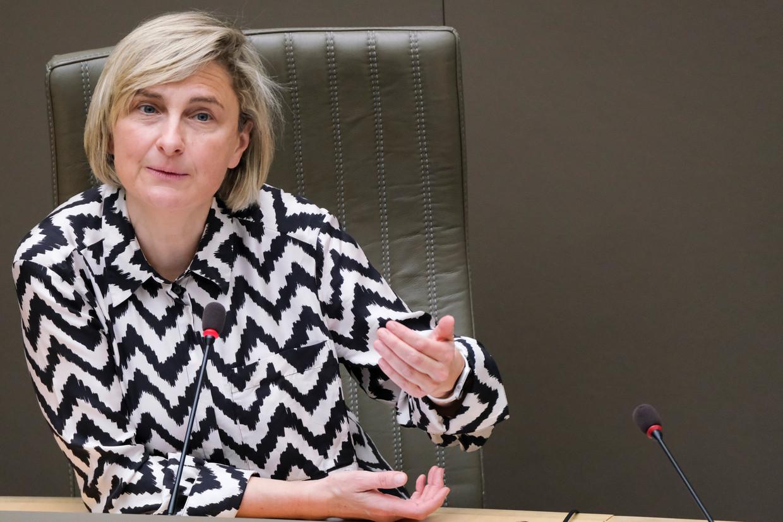 Vlaams minister van Werk Hilde Crevits (CD&V). Beeld BELGA