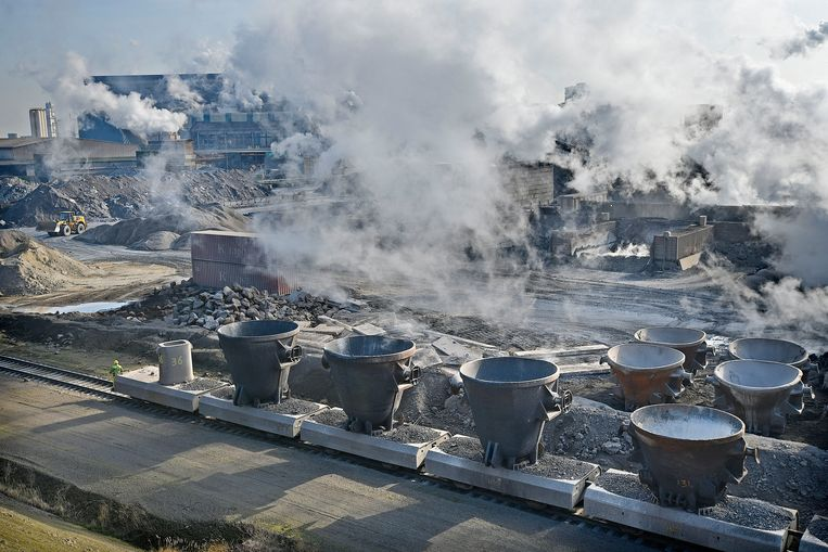 Tata Steel in IJmuiden. Beeld  Guus Dubbelman / de Volkskrant