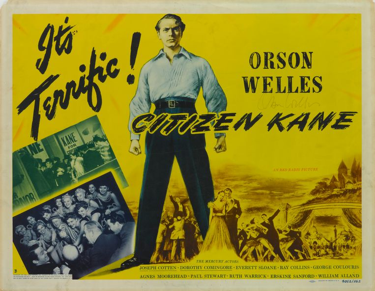 Filmposter van Citizen Kane, 1941.  Beeld Getty
