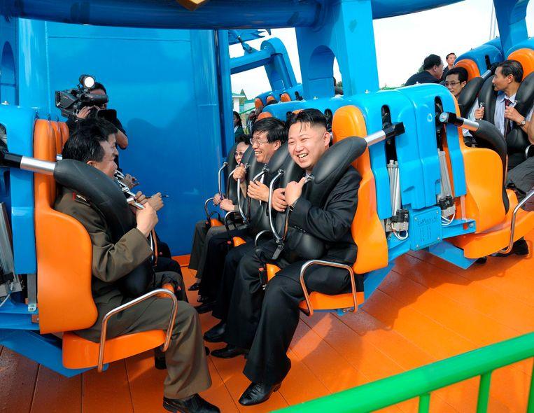 Archieffoto van Kim Jong-un in een pretpark. Beeld REUTERS