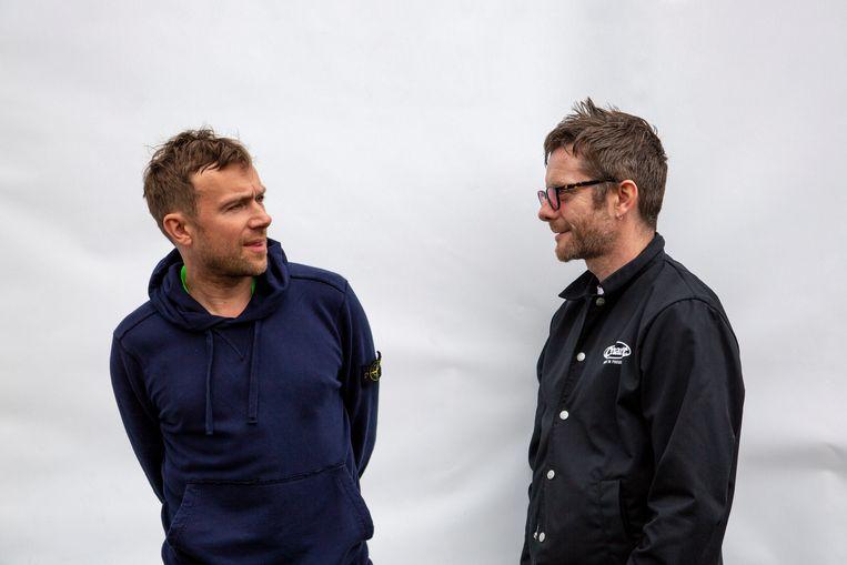 Damon Albarn & Jamie Hewlett. Beeld RV Jamie Hewlett