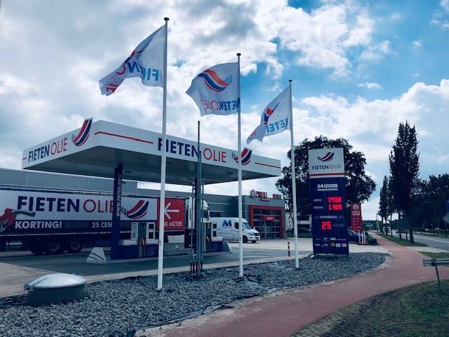 Gratis tanken kon bij een van deze 44 tankstations in Nederland